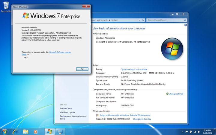 Windows 7 Enterprise 64 Bit Build 7601 Activation Key
